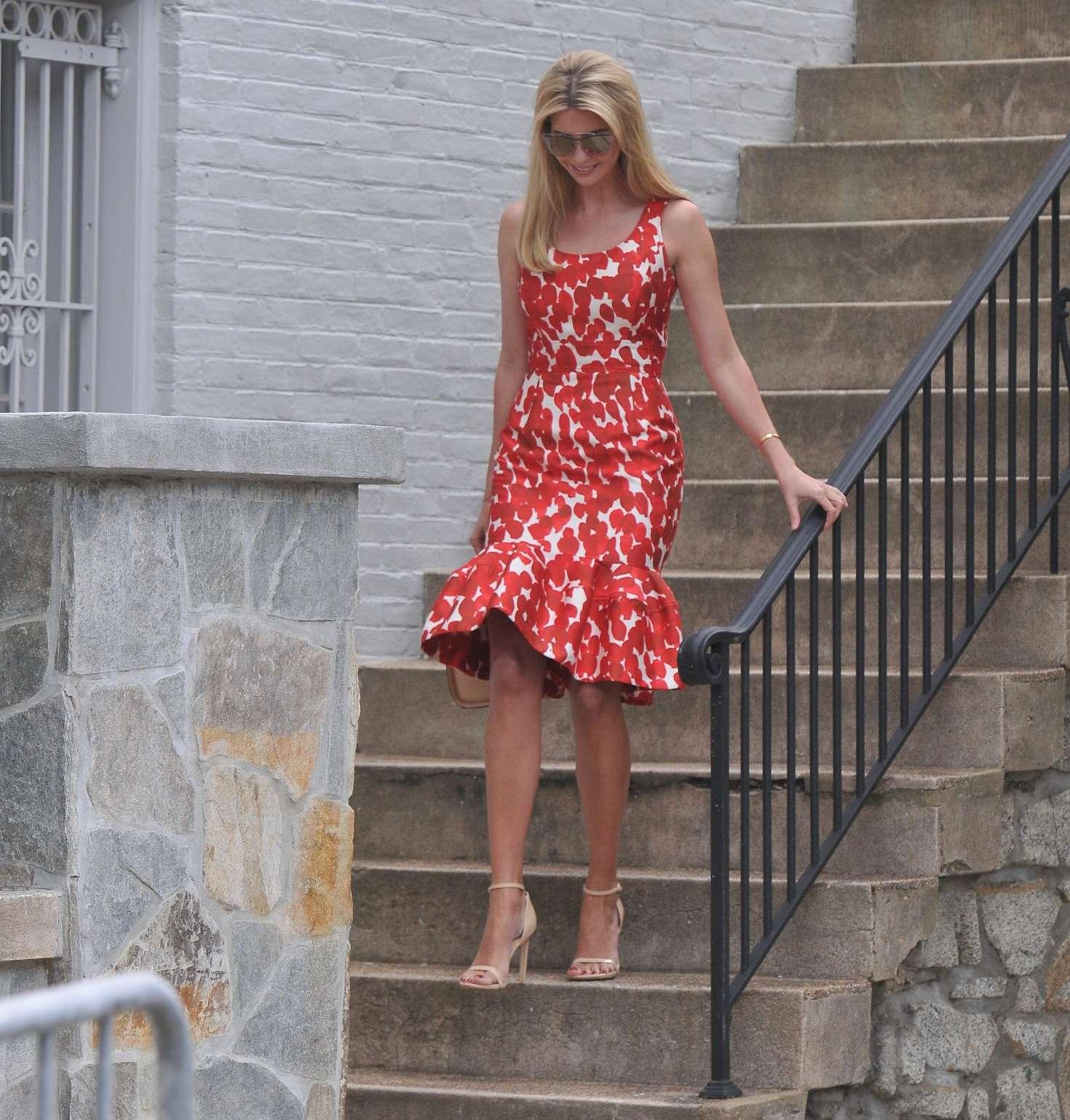 Ivanka Trump 2017 : Ivanka Trump in Red Dress -12