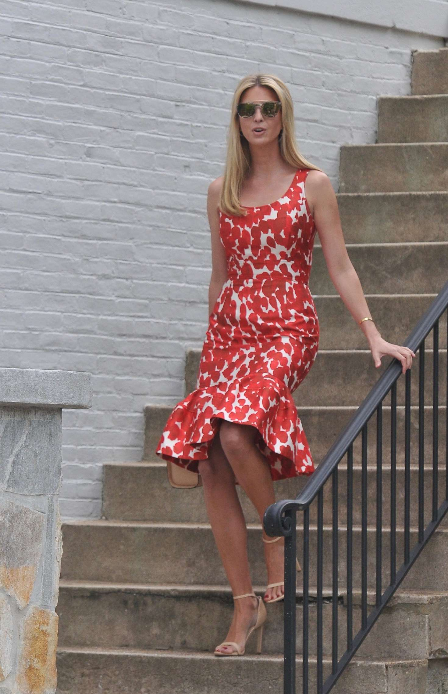 Ivanka Trump in Red Dress out for work in Washington
