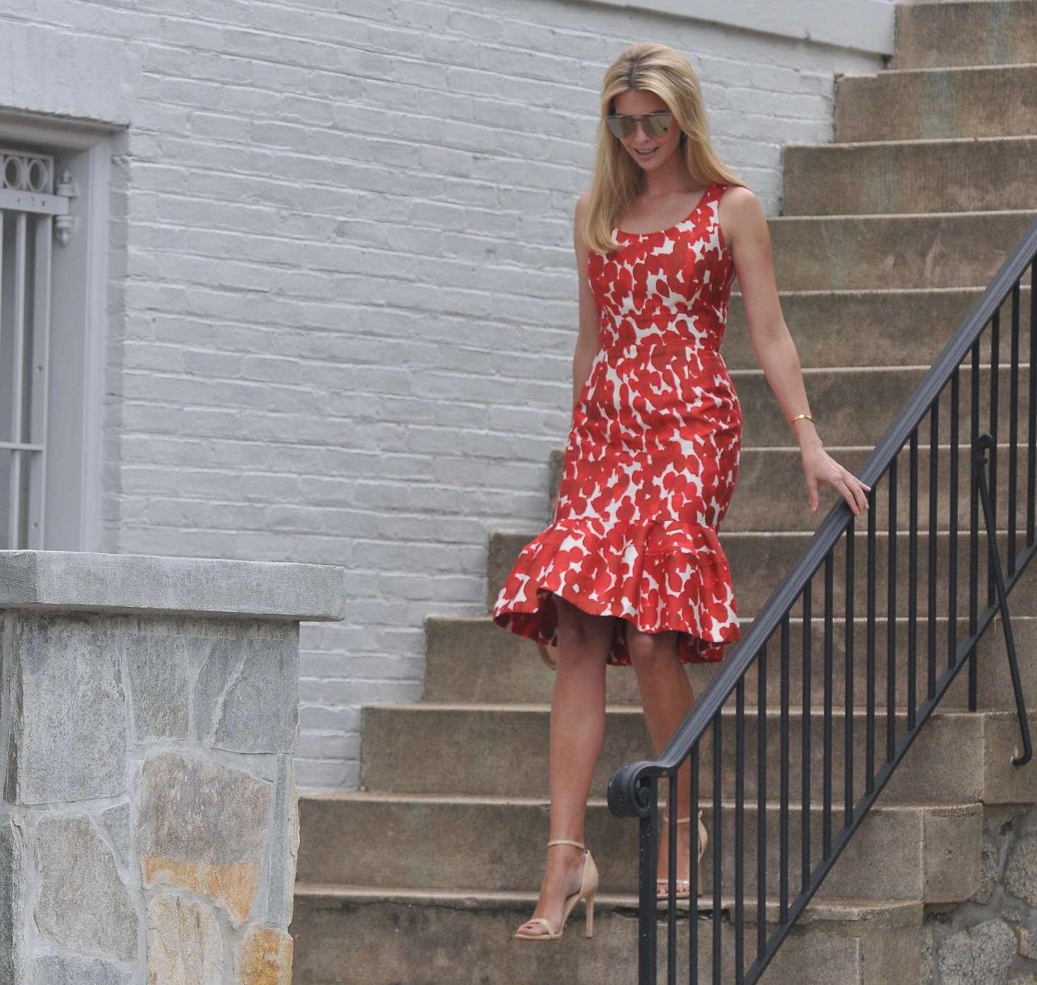 Ivanka Trump 2017 : Ivanka Trump in Red Dress -23