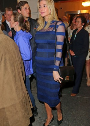 Ivanka Trump - Leaving Broadway show Hamilton in New York City