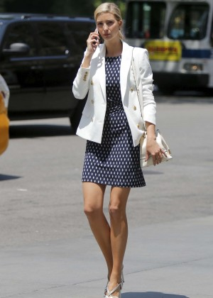 Ivanka Trump in Mini Dress out in NY