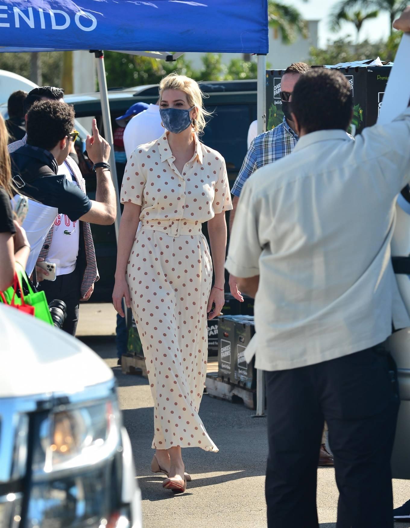 Ivanka Trump - Seen at Farmer to Families Food Box distribution in Miami