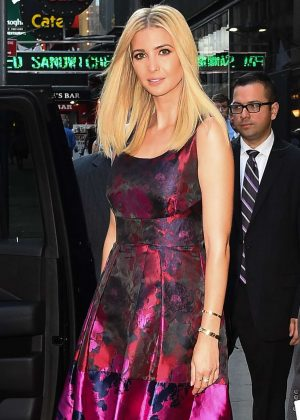 Ivanka Trump visits Good Morning America in NYC