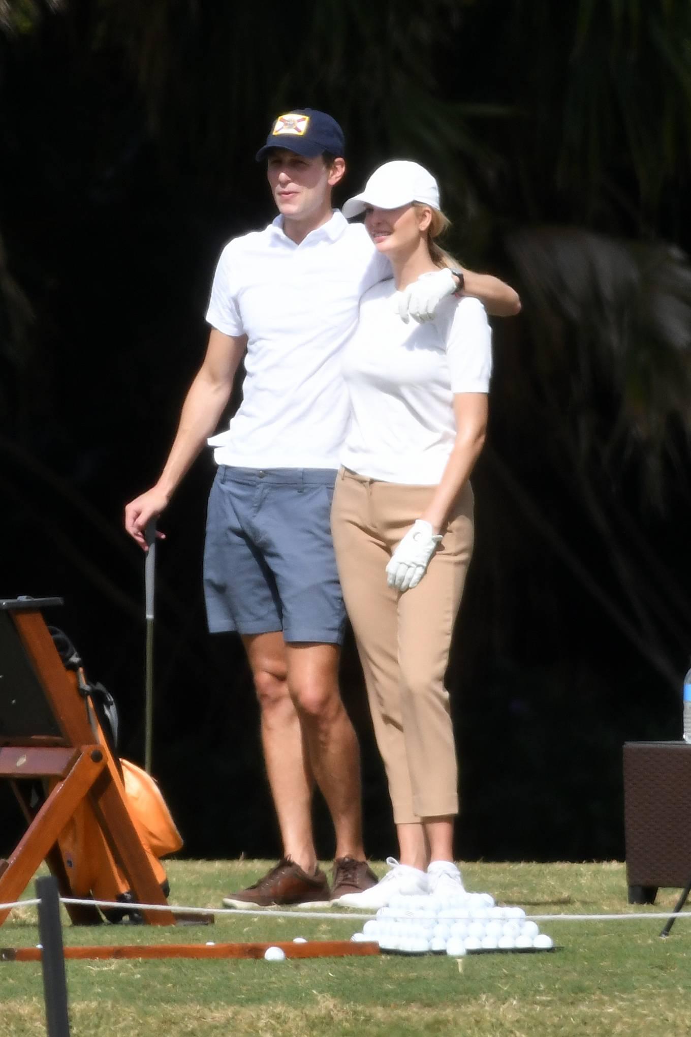 Ivanka Trump 2021 : Ivanka Trump – With her husband Jared Kushner golfing at Trump Doral in Miami-10