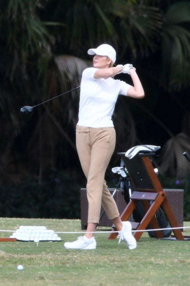 Ivanka Trump - With her husband Jared Kushner golfing at Trump Doral in Miami