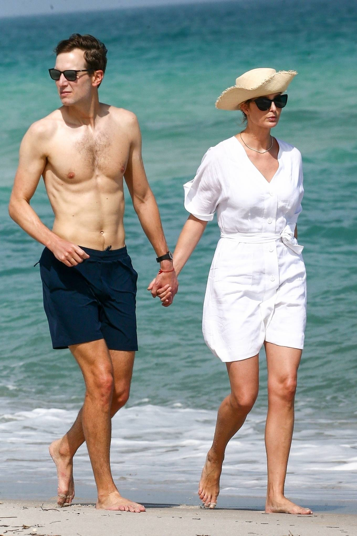 Ivanka Trump - With Jared Kushner on the beach in Miami