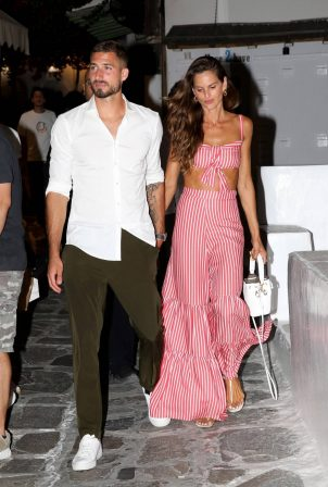 Izabel Goulart and Kevin Trapp - Night Out on Mykonos