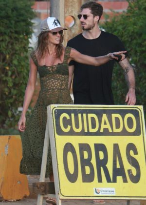 Izabel Goulart and Kevin Trapp out in Brazil