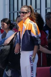 Izabel Goulart - Arrives at Crete Airport