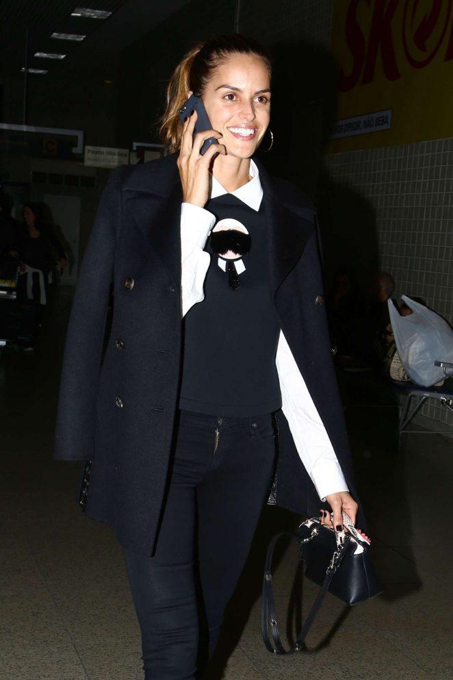 Izabel Goulart Arriving at Santos Dummont Airport in Rio de Janeiro
