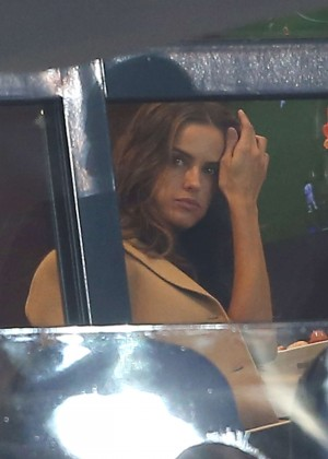 Izabel Goulart at PSG vs Angers Parc des Princes Match in Paris