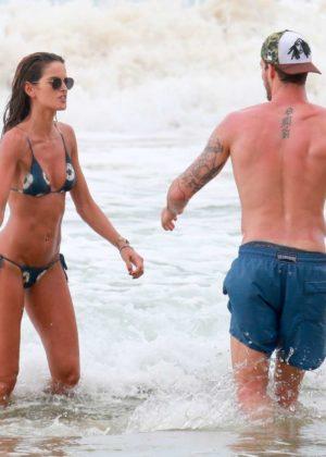 Izabel Goulart in Bikini and Kevin Trapp on the beach in Fernando de Noronha Pic 24 of 35