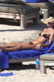 Izabel Goulart in Bikini on the beach in in St Barts
