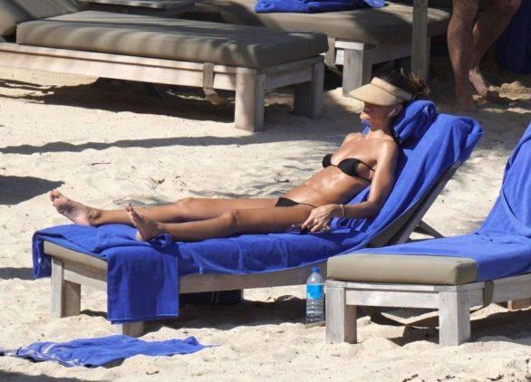 Izabel Goulart in Bikini on the beach in in St Barts