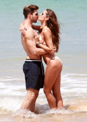 Izabel Goulart in Bikini with boyfriend on the beach in Recife Pic 2 of 35