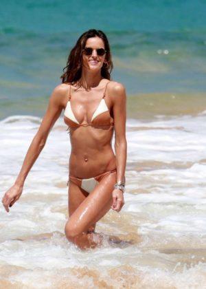 Izabel Goulart In Bikini With Boyfriend On The Beach In Recife