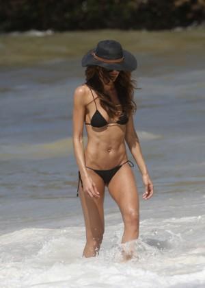 Izabel Goulart in Black Bikini 2016 -01