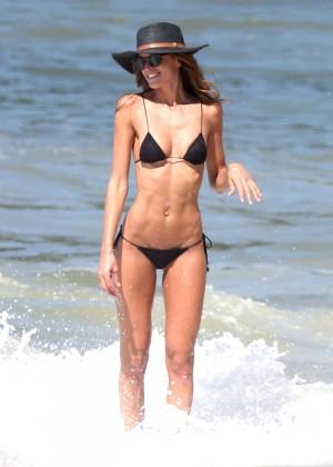 Izabel Goulart in Black Bikini 2016 -17