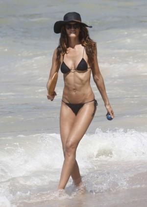 Izabel Goulart in Black Bikini 2016 -19