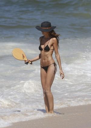 Izabel Goulart in Black Bikini 2016 -21