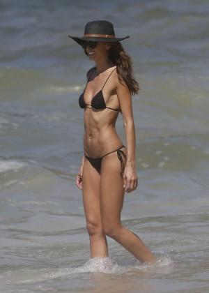 Izabel Goulart in Black Bikini 2016 -24
