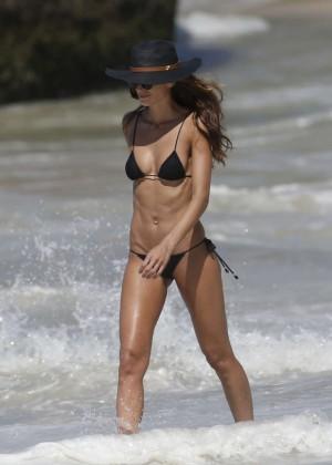 Izabel Goulart in Black Bikini 2016 -27