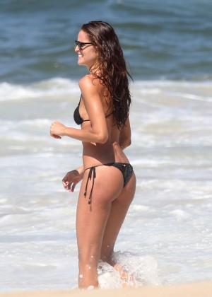 Izabel Goulart in Black Bikini 2016 -32