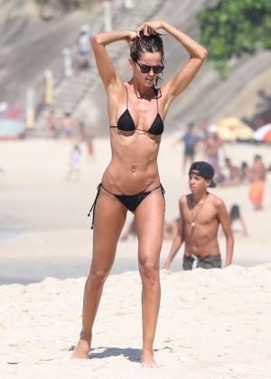 Izabel Goulart in Black Bikini 2016 -40