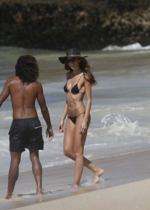 Izabel Goulart in Black Bikini 2016 -47