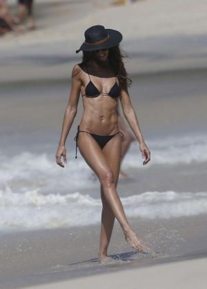 Izabel Goulart in Black Bikini 2016 -51