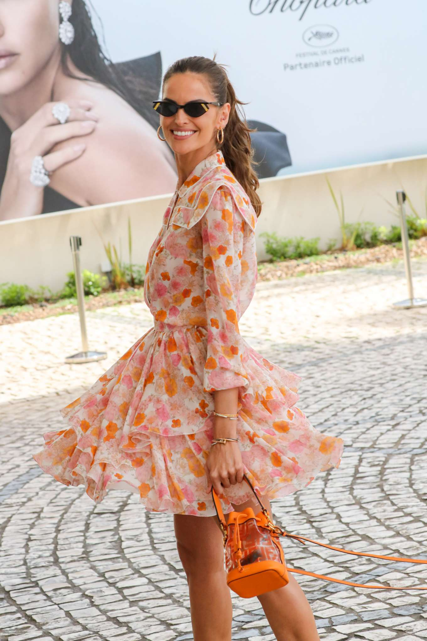 Izabel Goulart 2019 : Izabel Goulart in Floral Print Dress at the Martinez Hotel-04