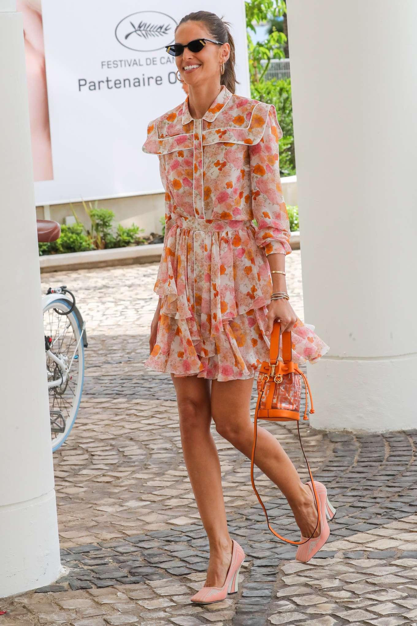 Izabel Goulart 2019 : Izabel Goulart in Floral Print Dress at the Martinez Hotel-05