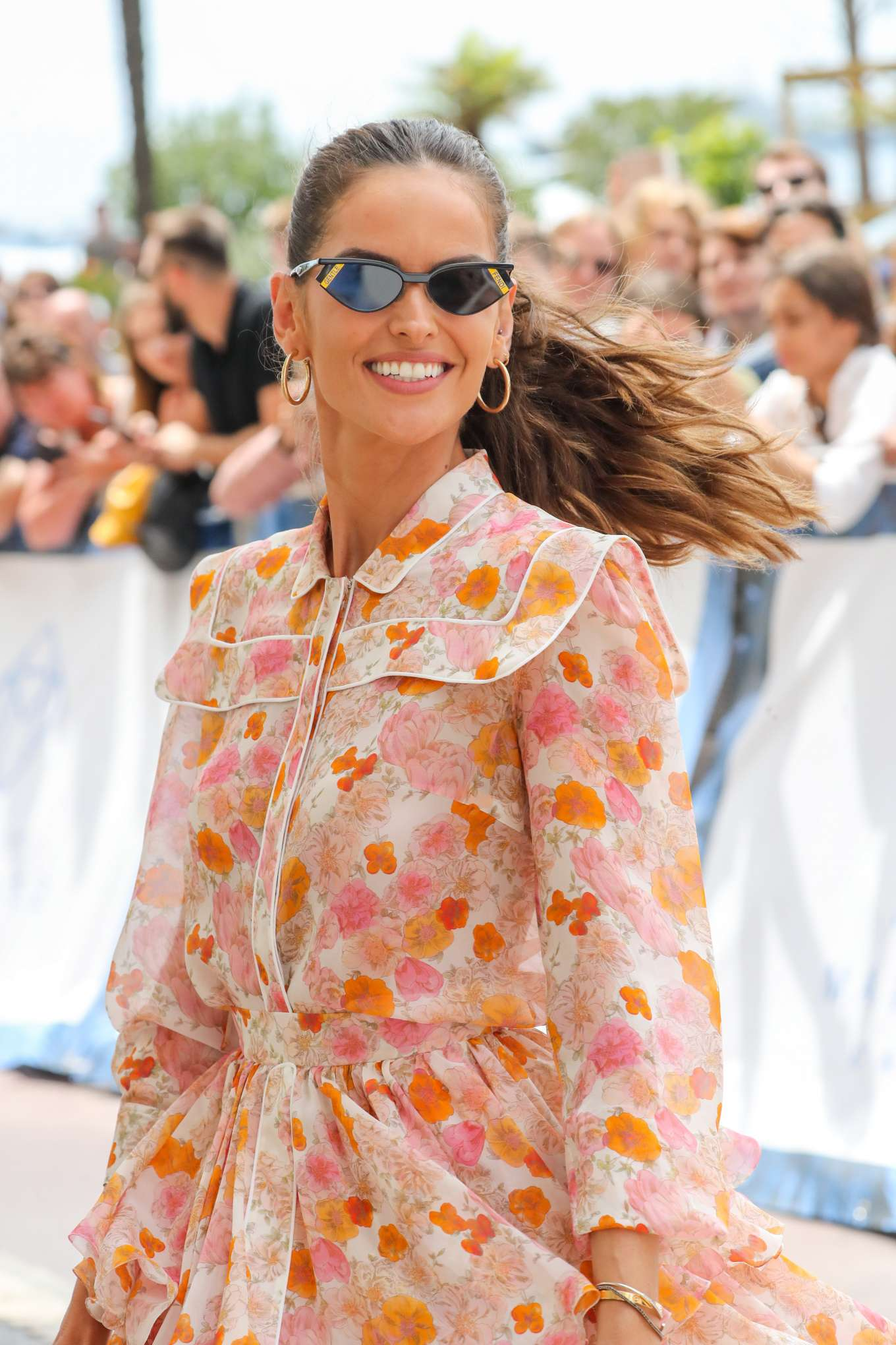 Izabel Goulart 2019 : Izabel Goulart in Floral Print Dress at the Martinez Hotel-07
