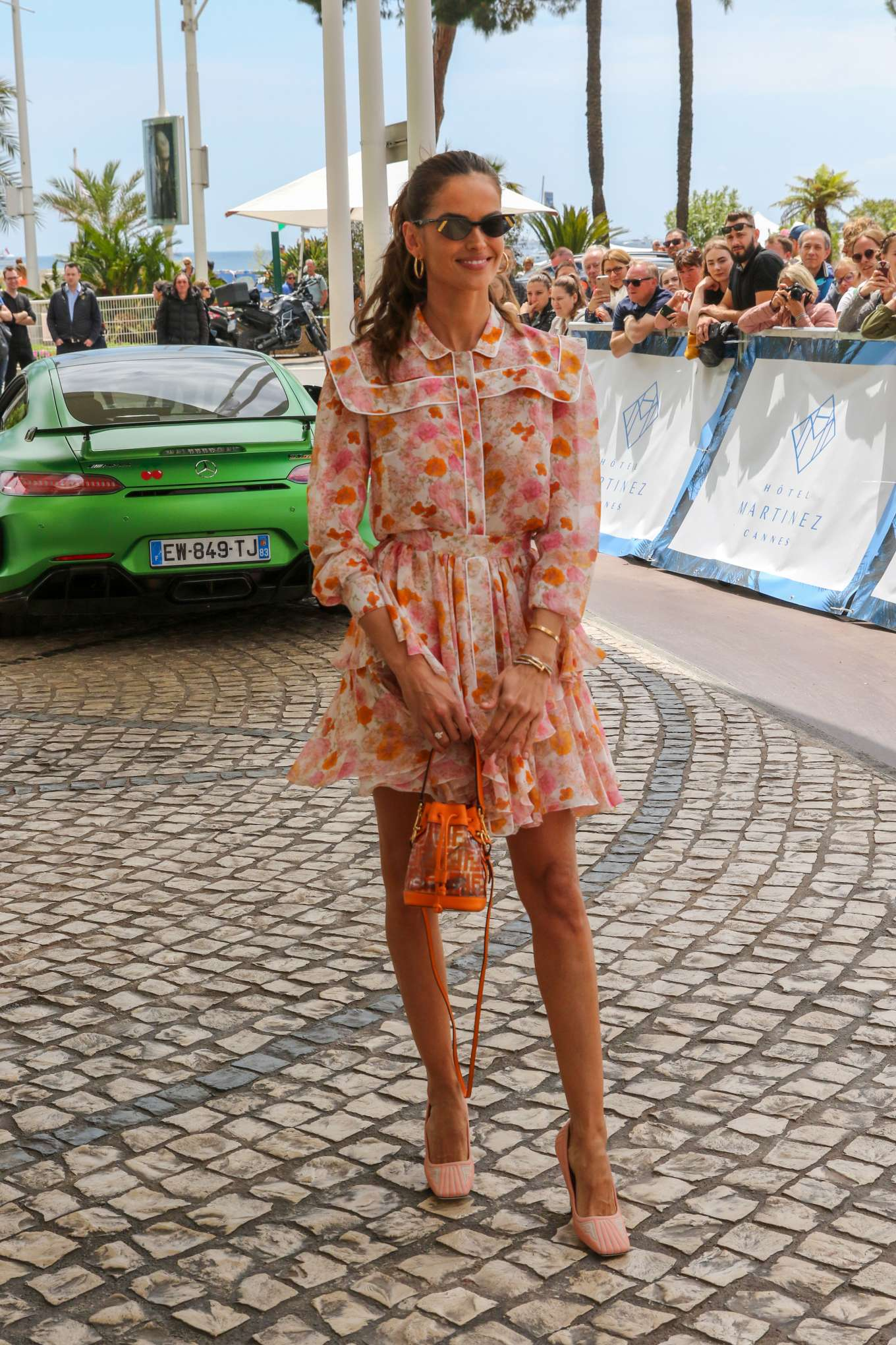 Izabel Goulart 2019 : Izabel Goulart in Floral Print Dress at the Martinez Hotel-09