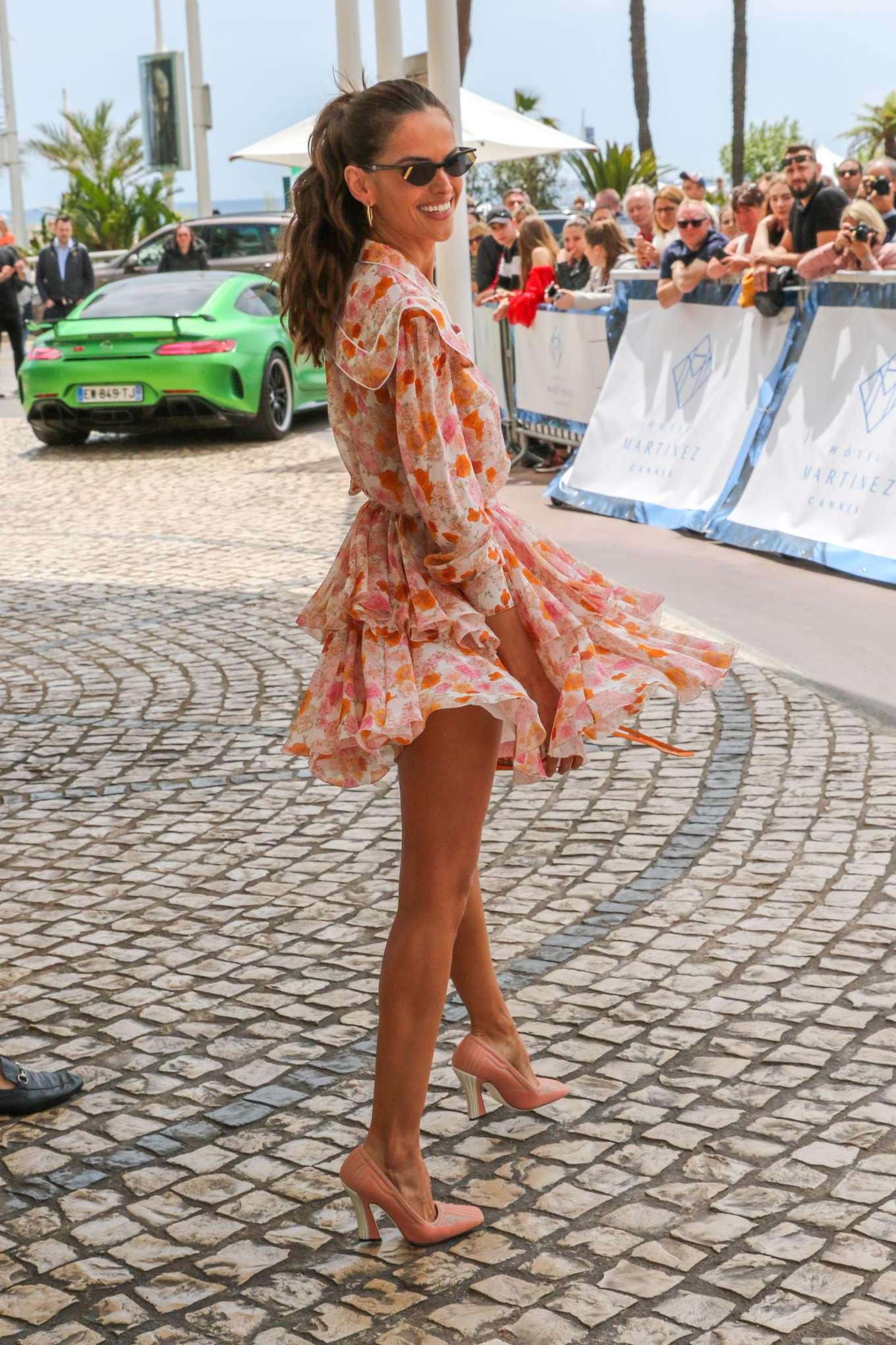 Izabel Goulart 2019 : Izabel Goulart in Floral Print Dress at the Martinez Hotel-10