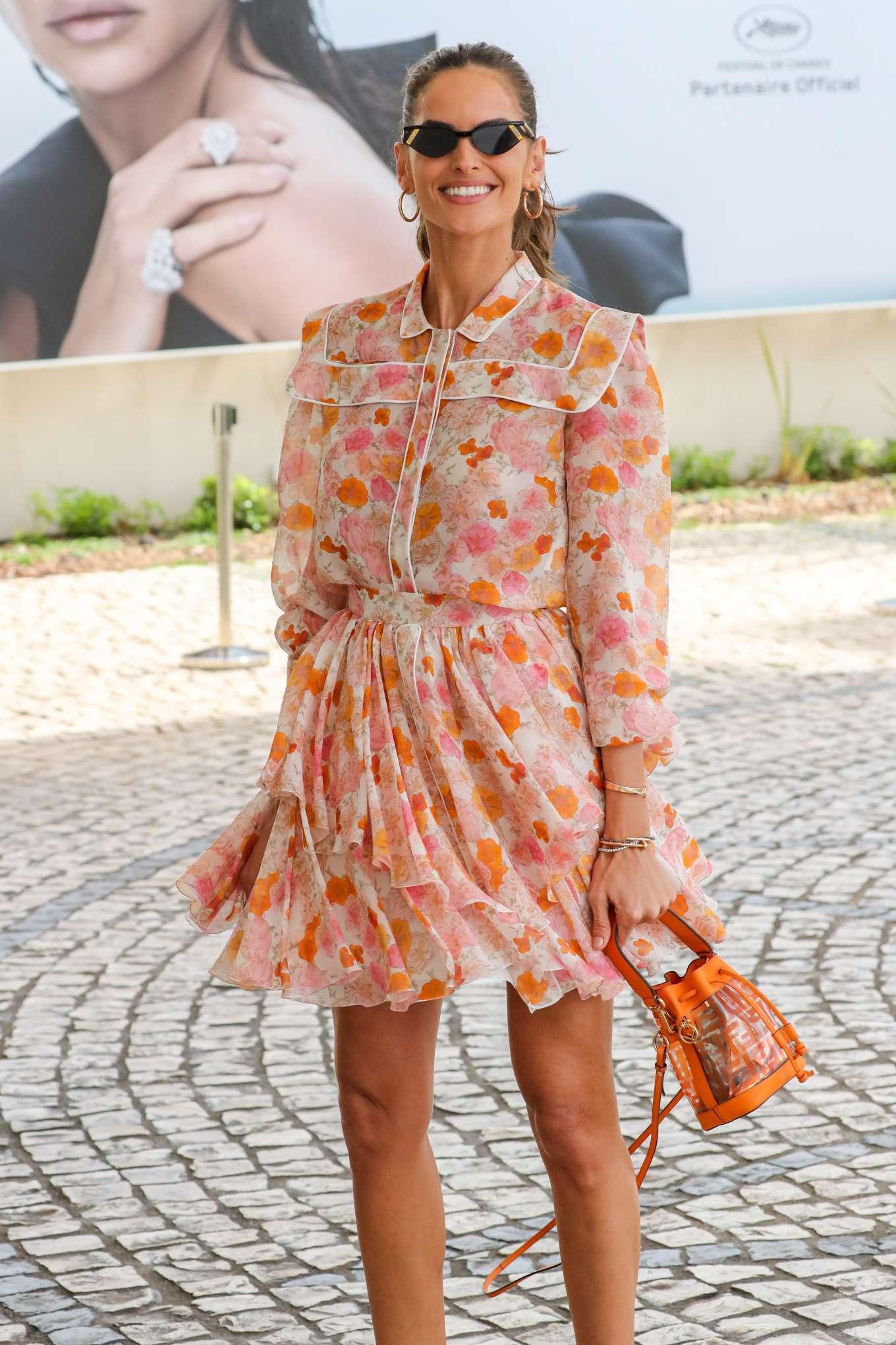 Izabel Goulart 2019 : Izabel Goulart in Floral Print Dress at the Martinez Hotel-11