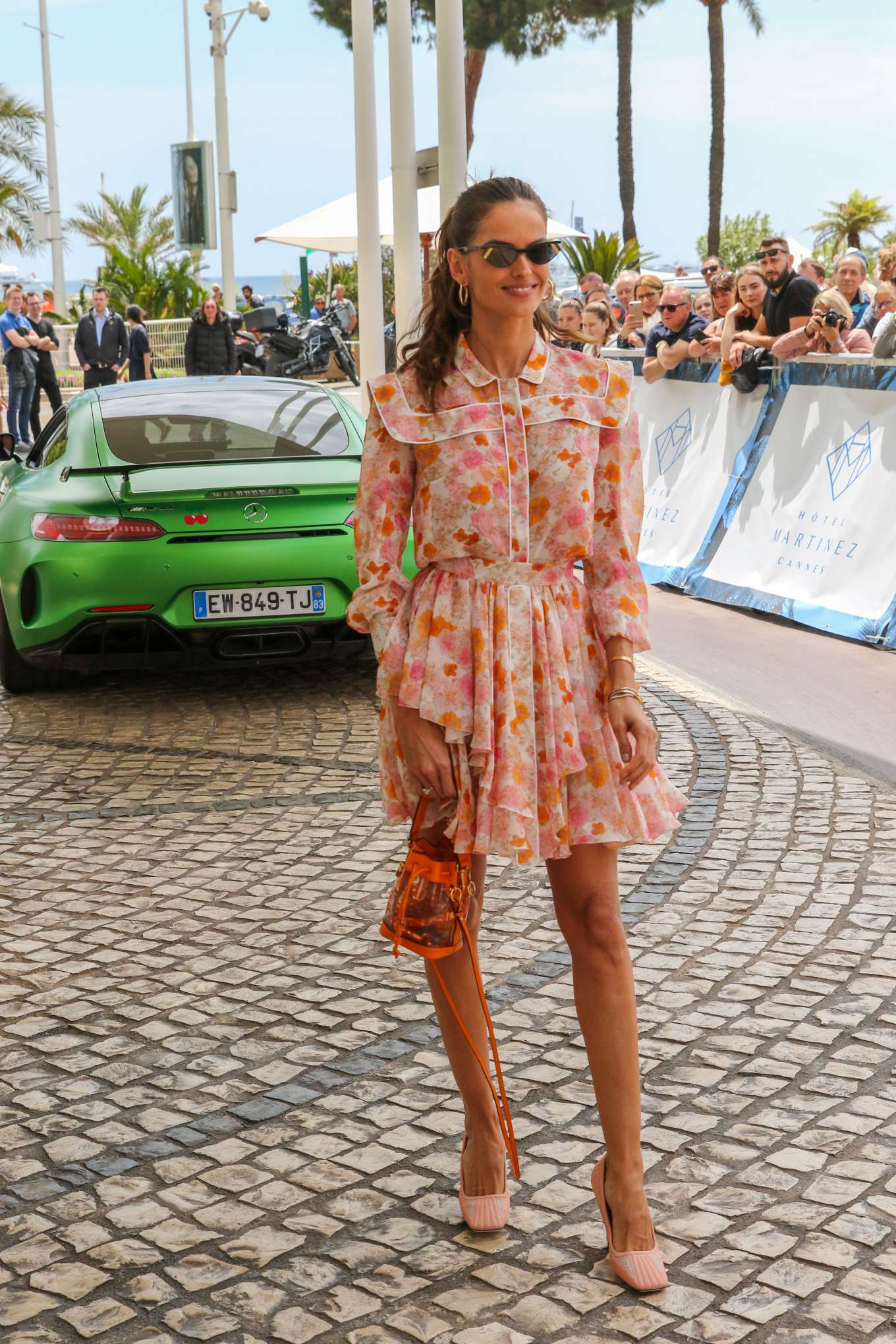 Izabel Goulart 2019 : Izabel Goulart in Floral Print Dress at the Martinez Hotel-14