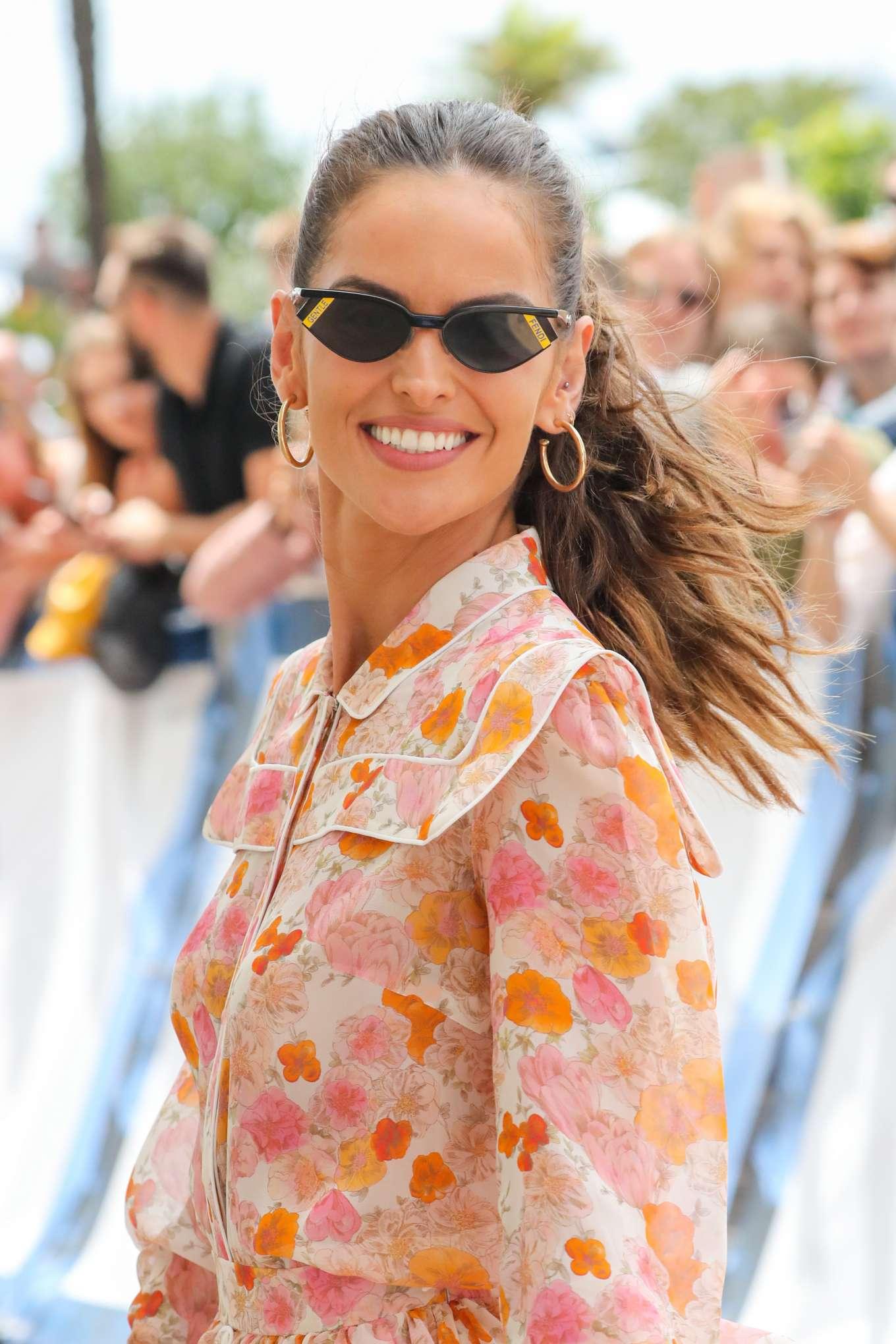 Izabel Goulart 2019 : Izabel Goulart in Floral Print Dress at the Martinez Hotel-15