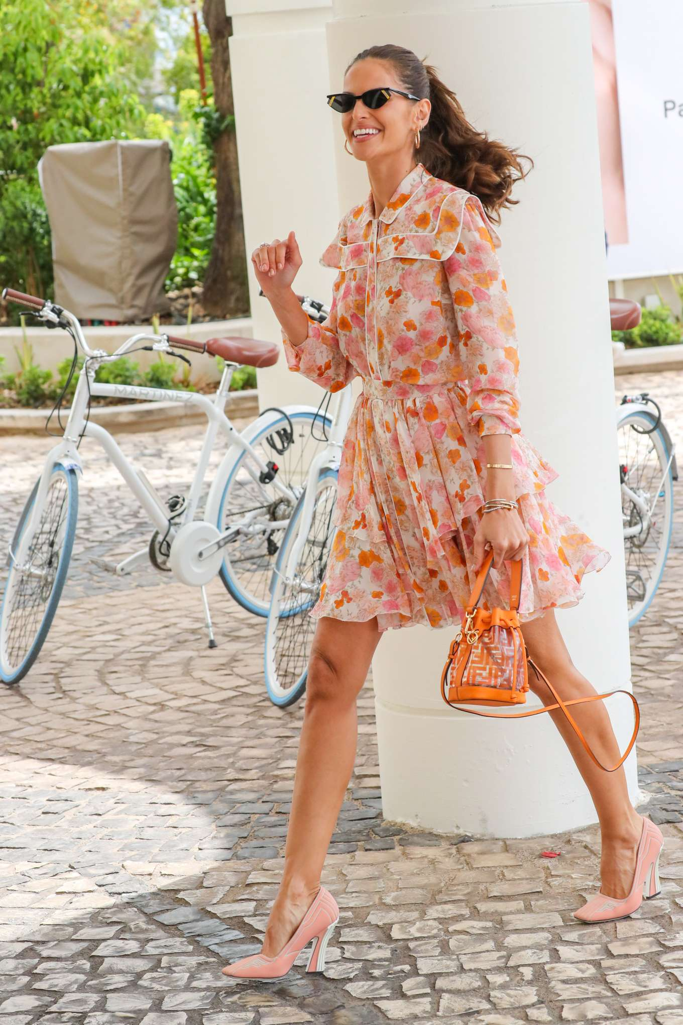 Izabel Goulart 2019 : Izabel Goulart in Floral Print Dress at the Martinez Hotel-18