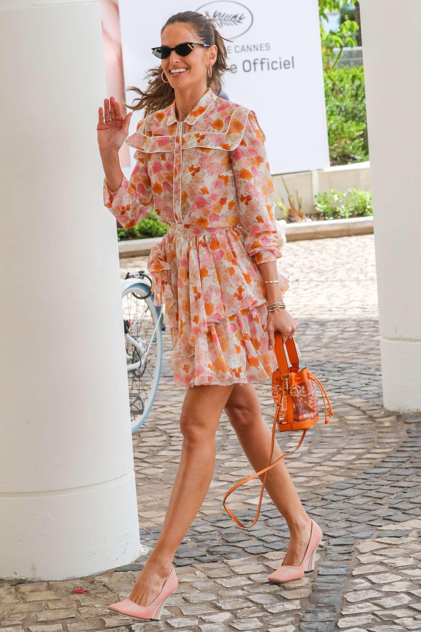Izabel Goulart 2019 : Izabel Goulart in Floral Print Dress at the Martinez Hotel-23