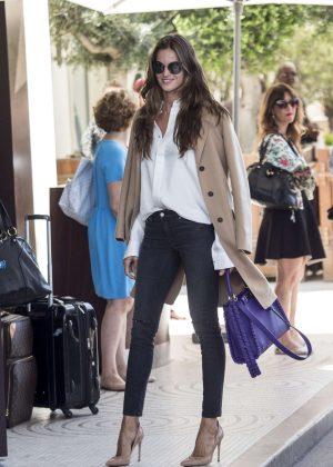 Izabel Goulart in Jeans Arrives at Martinez Hotel in Cannes
