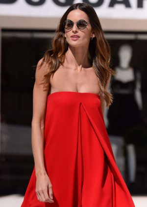 Izabel Goulart in Red out in Cannes