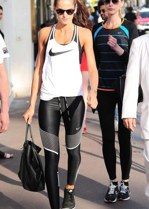 Izabel Goulart in Tights out in Cannes