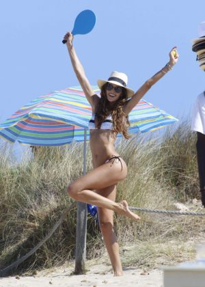 Izabel Goulart in Tiny Bikini in Ibiza