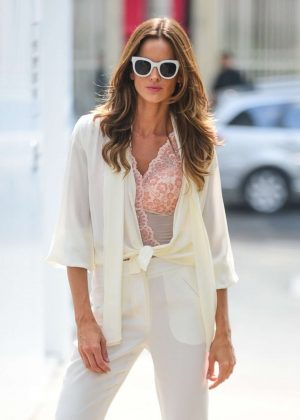 Izabel Goulart - On the set of a photoshoot in Sao Paulo