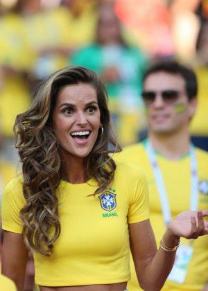 Izabel Goulart - Serbia vs Brazil Game in Moscow