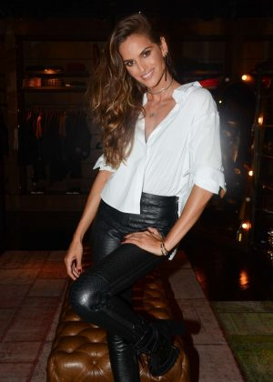 Izabel Goulart - VIP presence at a designer store in Sao Paulo