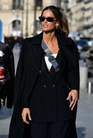 Izabel Goulart - Walks the streets of Paris during Spring - Summer 2022 Fashion Week