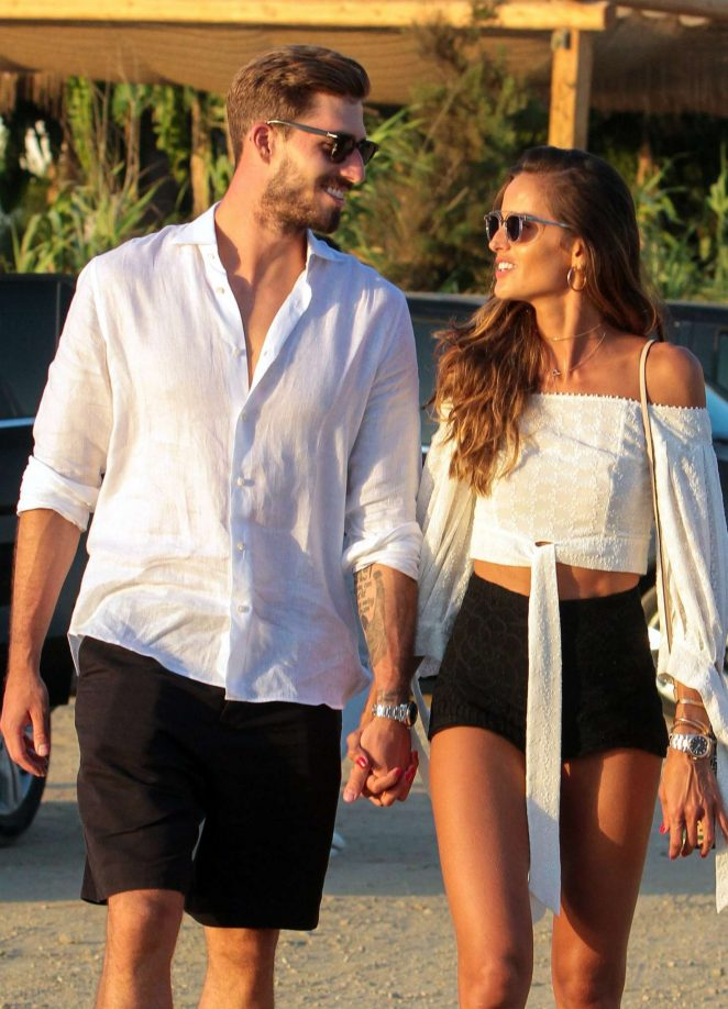 Izabel Goulart with her fiance Kevin Trapp in Mykonos
