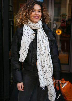 Izzy Bizu - Leaving BBC Radio 2 studios in London